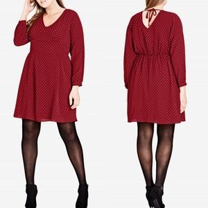 20 City Chic Red Polkadot Sweet Nothing Dress NWT